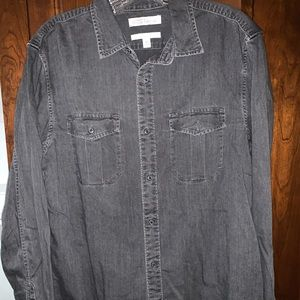 Men banana republic casual dress button down shirt